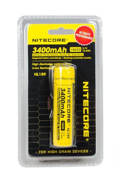 NITECORE 18650-AKKU 3400mAH Hochleistungsakku